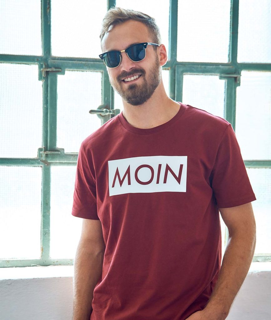 Moin Shirt Sommer Edition 19 Weinrot