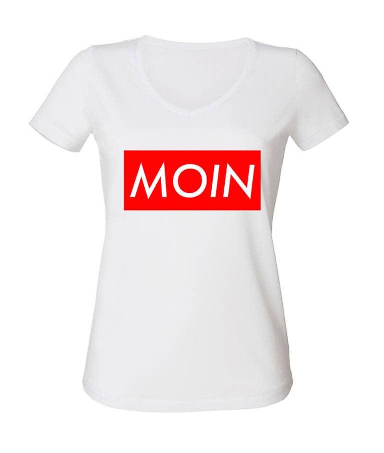 Moin Shirt Damenschnitt Weiß 19
