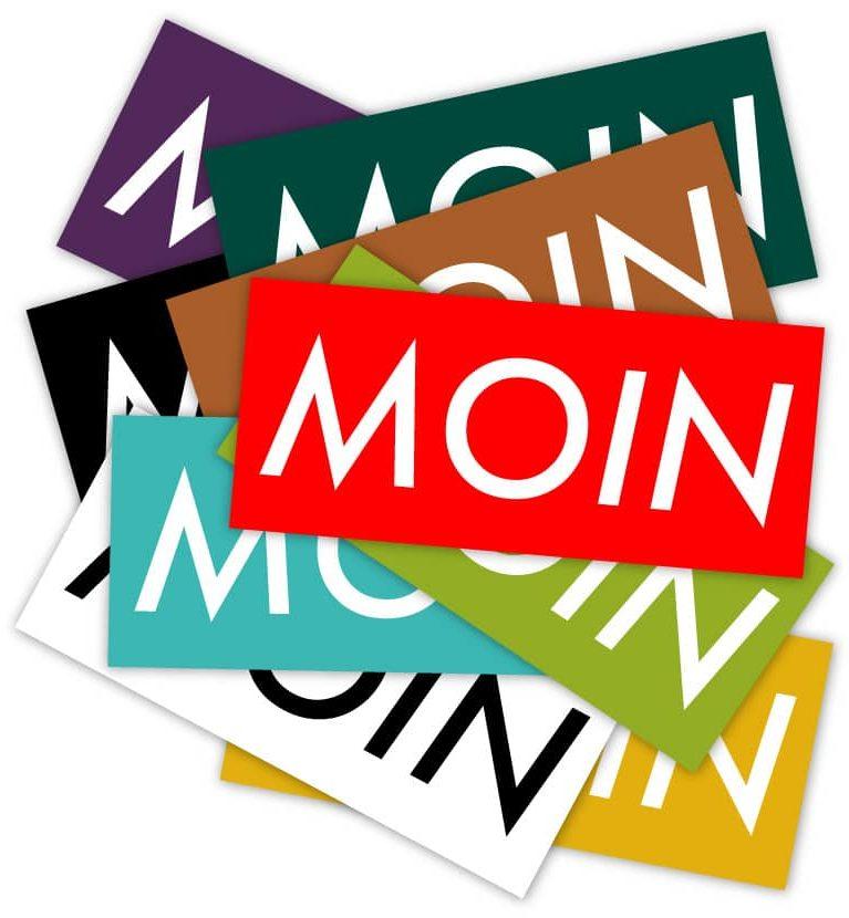 MOIN Sticker Bundle 1 - MOIN Aufkleber bunt